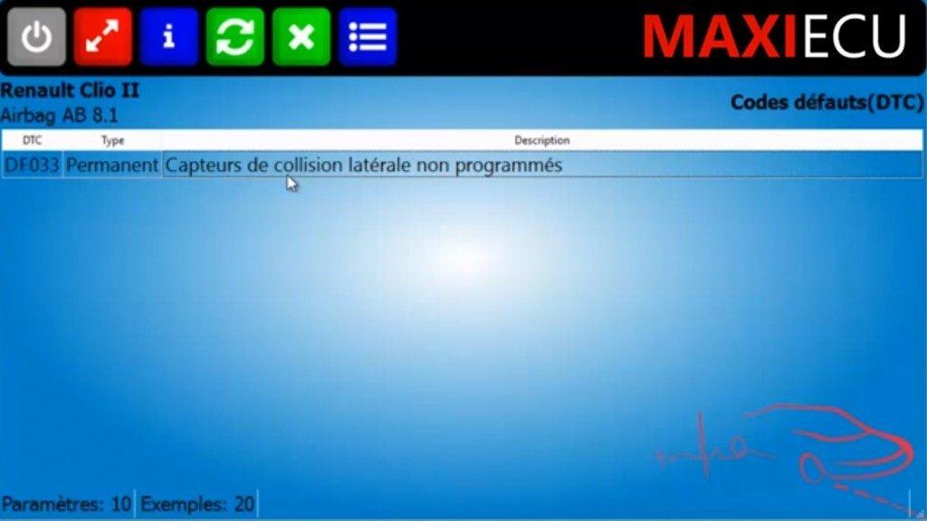Codes défauts MaxiEcu